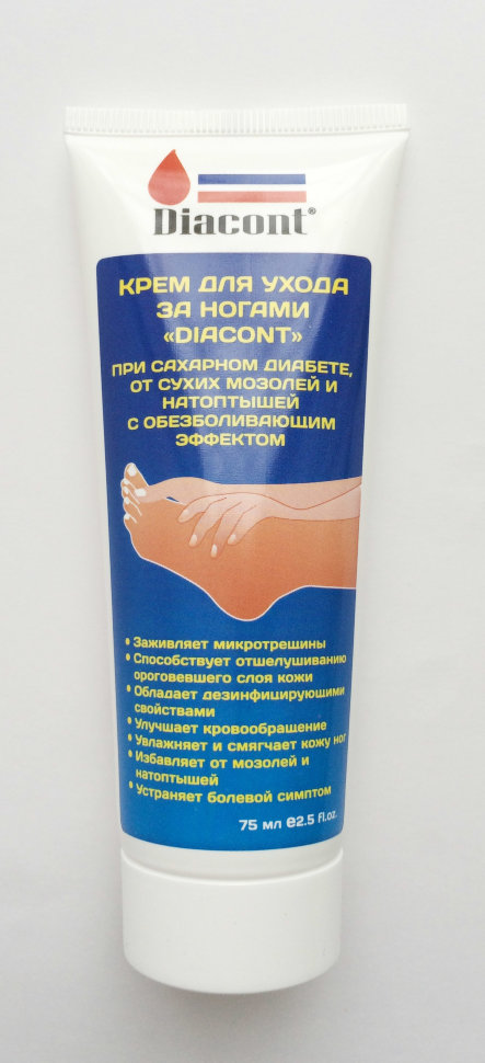 фото 1 - Крем для ног Diacont