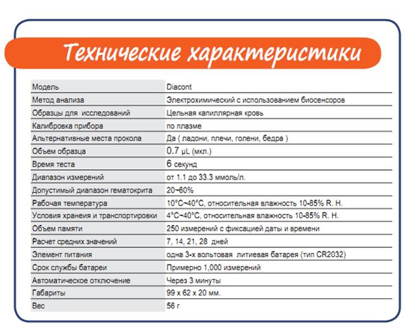 """фото 6 - Система контроля глюкозы в крови марки """"Diacont"""" с принадлежностями."""