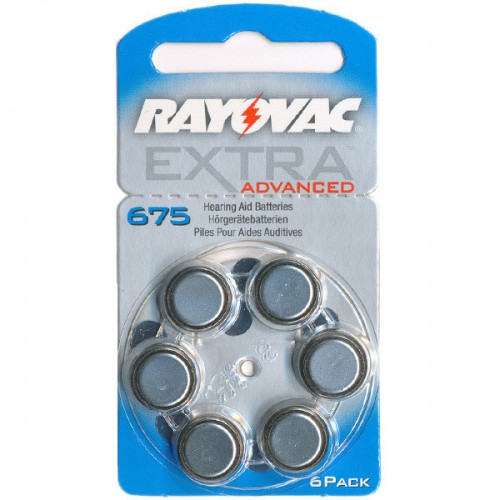 фото 1 - Батарейки Rayovac серияADVANCED EXTRA 675 (комплект: 6 шт)
