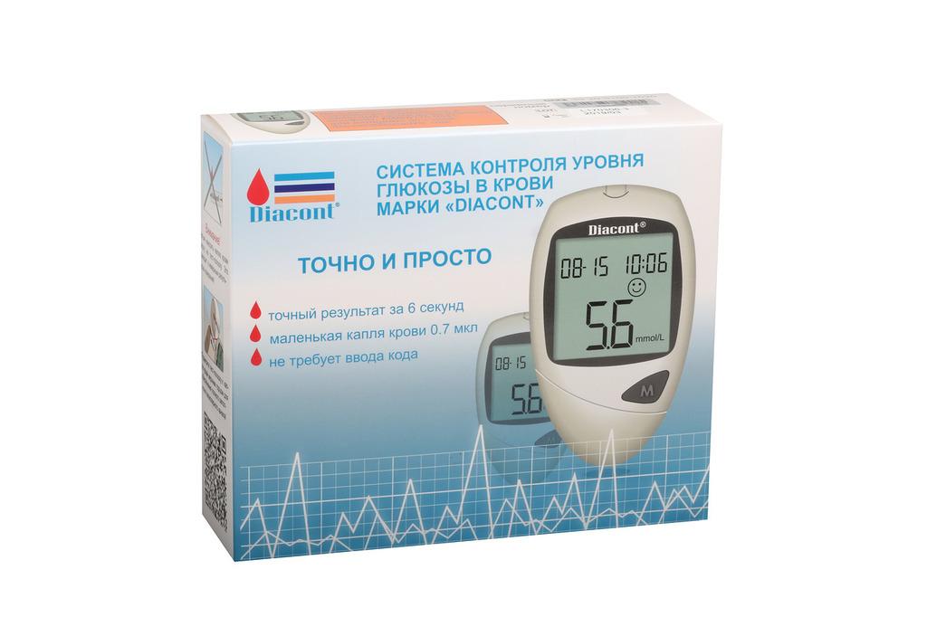 """фото 2 - Система контроля глюкозы в крови марки """"Diacont"""" с принадлежностями."""