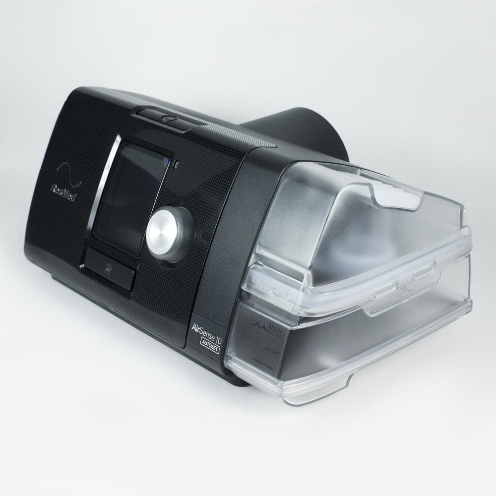 фото 4 - Комплект ResMed Airsense 10 Autoset (S10) + рото-носовая маска ResMed AirFit F10 + Накладка на нос Resmed Gecko